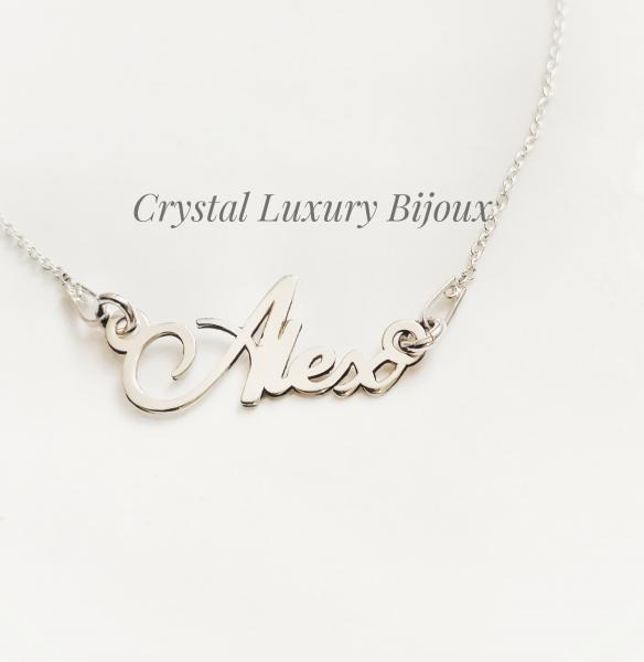 Lantisor personalizat din argint cu nume Alex 0