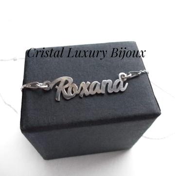 Lantisor personalizat din argint cu nume Roxana 1