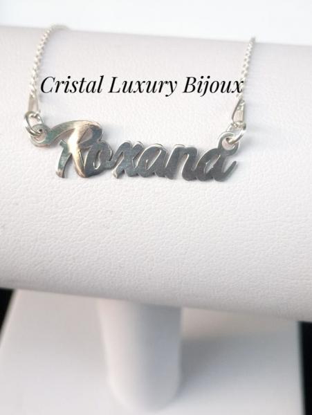 Lantisor personalizat din argint cu nume Roxana 2