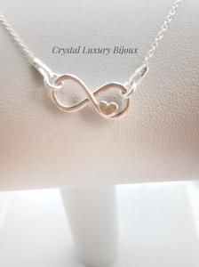 Colier argint infinit Love2