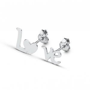 Cercei argint Love0