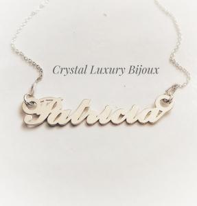Lantisor argint cu nume personalizat Patricia1