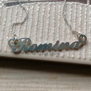Lantisor argint cu nume personalizat Romina2