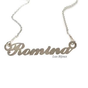 Lantisor argint cu nume personalizat Romina0