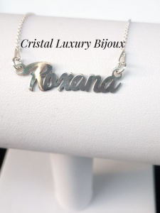 Lantisor argint cu nume personalizat Roxana2
