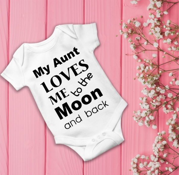Body Personalizat - My aunt loves me to the moon and back 0