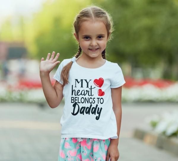 Body Personalizat - My Heart Belongs To Daddy 0