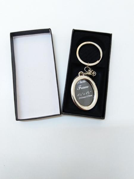 Breloc Metalic Personalizat Cu Poza - Oval 2
