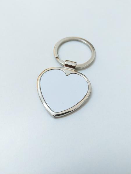 Breloc Metalic Inima Personalizat cu Poza 2