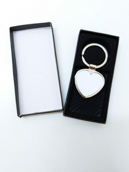 Breloc Metalic Inima Personalizat cu Poza 0