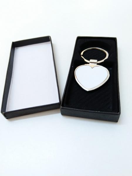 Breloc Metalic Inima Personalizat cu Poza 1