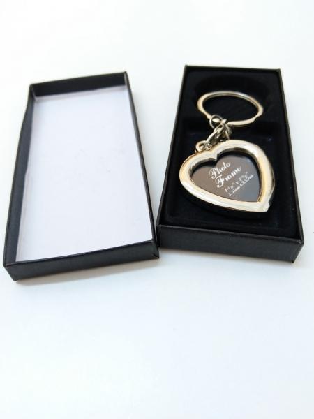 Breloc Metalic Personalizat Cu Poza - Inima 3