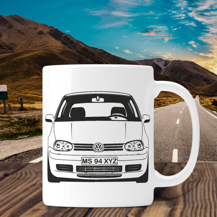 Cana Auto Personalizata - Volkswagen Golf 4 Cu Nume Sau Numar [0]
