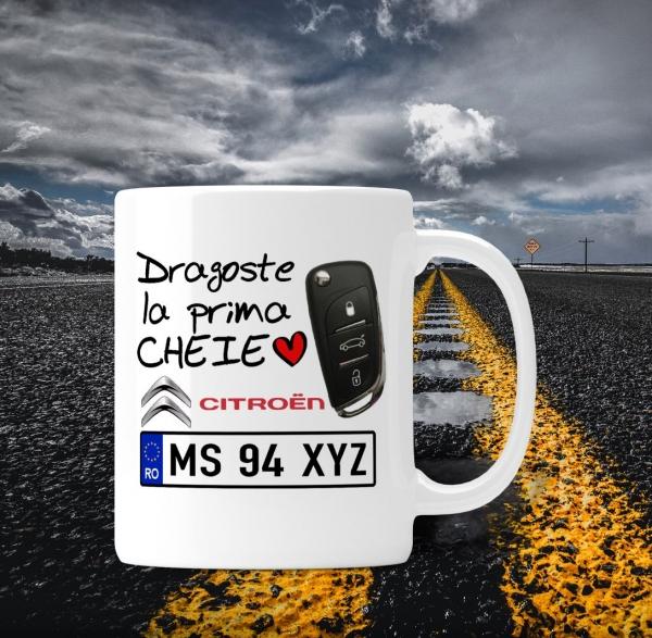Cana personalizata Auto Citroen - Dragoste La Prima Cheie 0