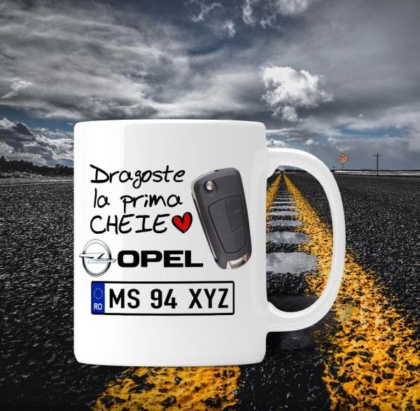 Cana personalizata Auto Opel - Dragoste La Prima Cheie 0