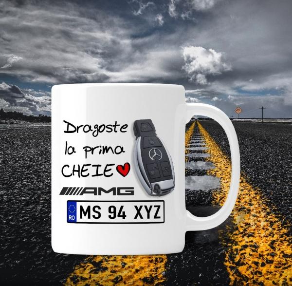 Cana personalizata Auto Mercedes Benz - Dragoste La Prima Cheie 0