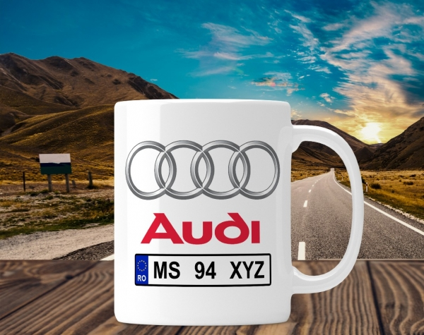 Cana personalizata Auto - Audi 0