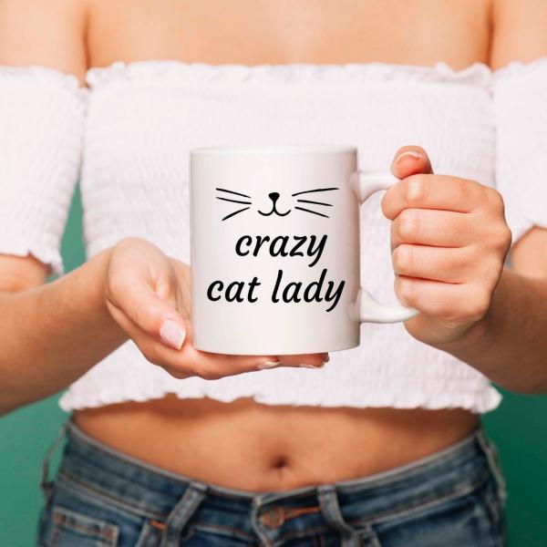 Cana personalizata - Crazy Cat Lady 0