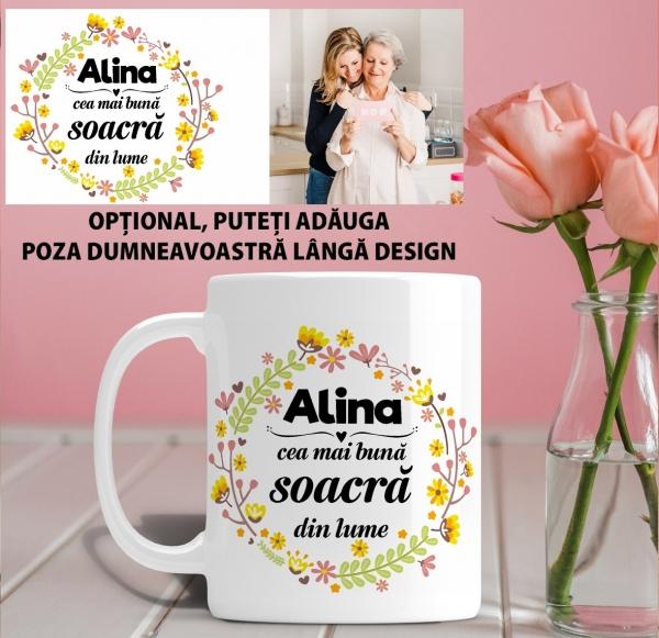 Cana personalizata Cu Poza - Cea Mai Buna Soacra 1