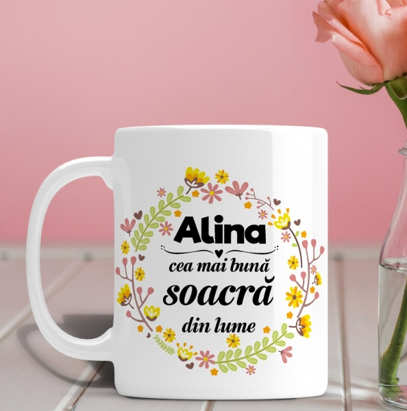 Cana personalizata Cu Poza - Cea Mai Buna Soacra 0