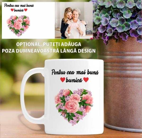 Cana personalizata Cu Poza - Cea Mai Buna Bunica 1