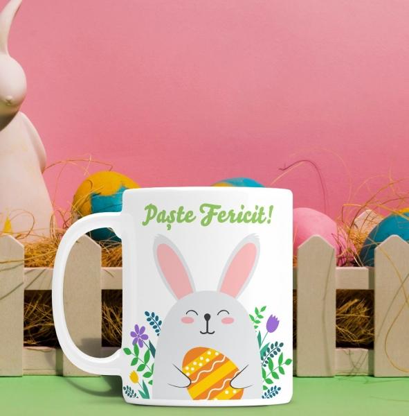 Cana personalizata de Paste Cu Poza - Paste Fericit! 0