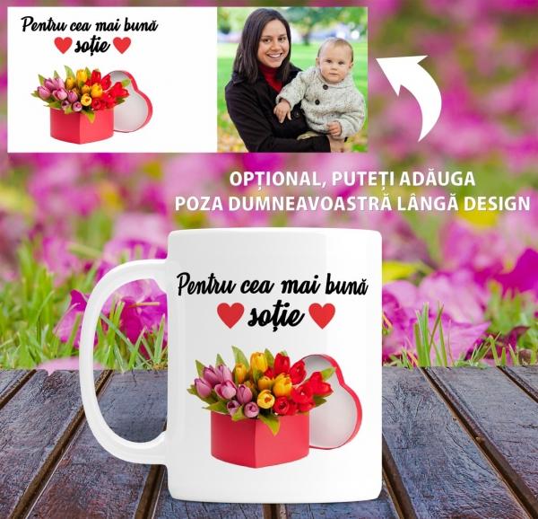 Cana personalizata Cu Poza - Cea Mai Buna Sotie 1