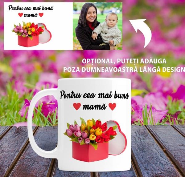 Cana personalizata Cu Poza - Cea Mai Buna Mama 1