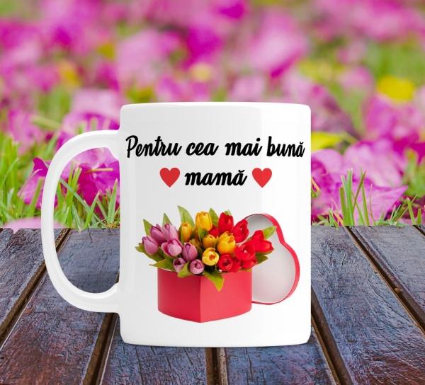 Cana personalizata Cu Poza - Cea Mai Buna Mama 0