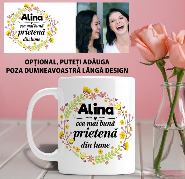 Cana personalizata Cu Poza - Cea Mai Buna Prietena 1