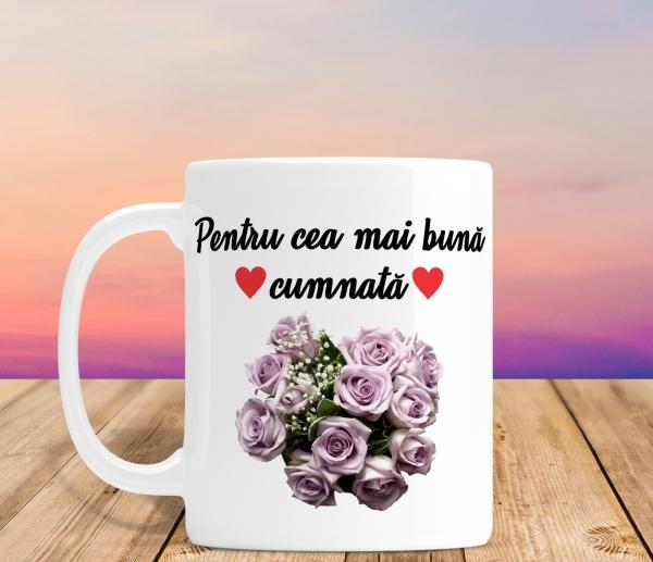 Cana personalizata Cu Poza - Cea Mai Buna Cumnata 0