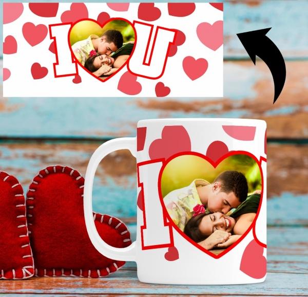 Cana personalizata cu poza - I love you 1