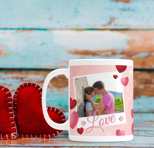 Cana personalizata cu poza si mesaj - Love 0
