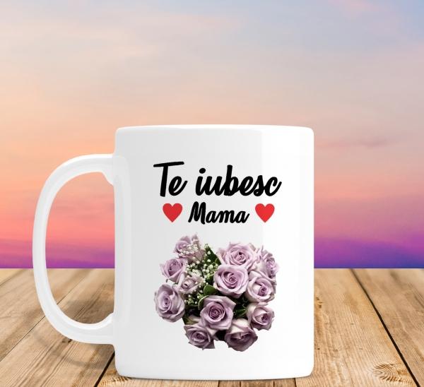 Cana personalizata Cu Poza - Te Iubesc Mama 0