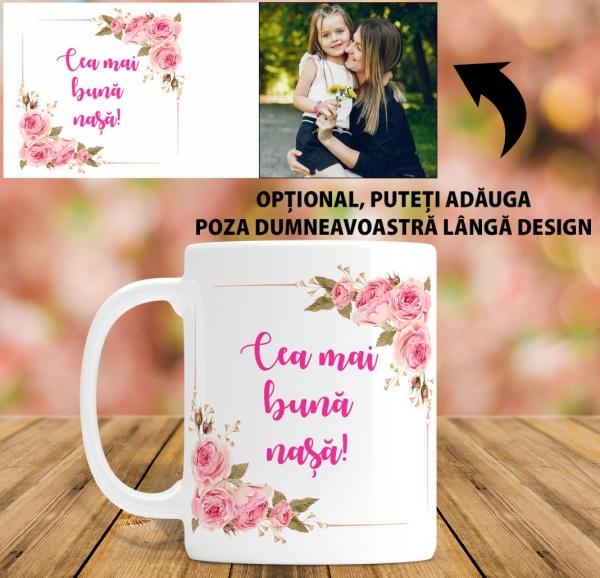 Cana personalizata Cu Poza - Cea mai buna Nasa 1