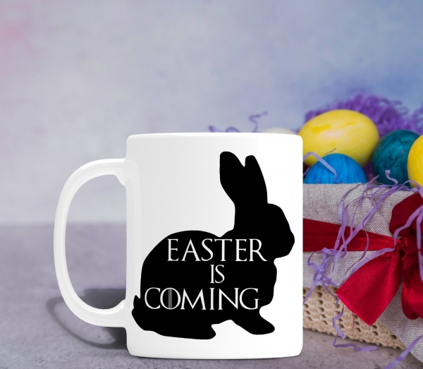 Cana personalizata de Paste - Easter is Coming 0