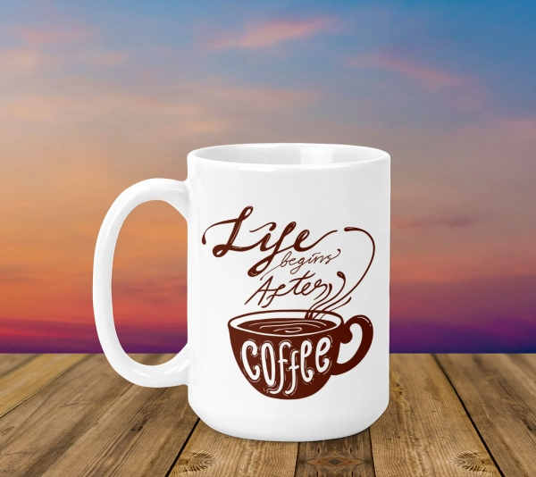 Cana Personalizata - Life Begins After Coffee 0