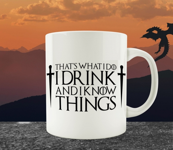 Cana Personalizata Game of Thrones - I Drink And I Know Things 0
