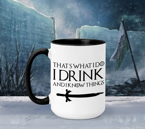 Cana Personalizata Game of Thrones - I Drink And I Know Things 4 0