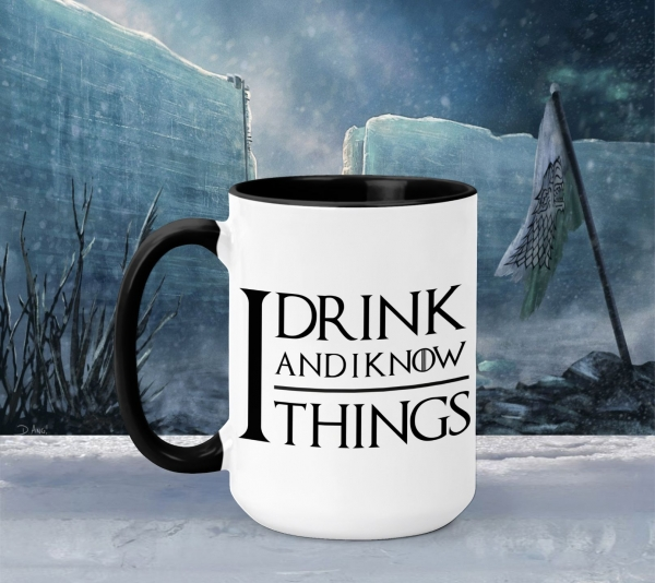 Cana Personalizata Game of Thrones - I Drink And I Know Things 2 0