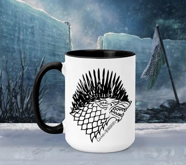 Cana Personalizata Game of Thrones - Iron Throne Stark 0
