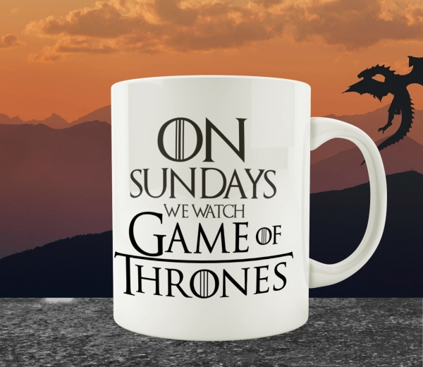 Cana Personalizata Game of Thrones - On Sundays We Watch 0