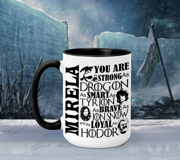 Cana Personalizata Game of Thrones - You Are As 0