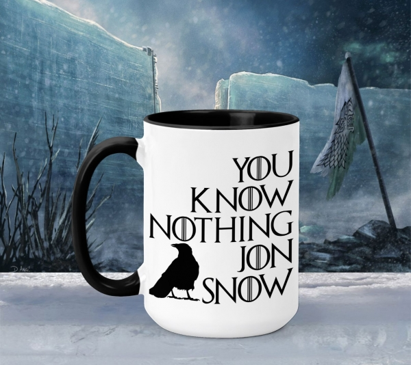 Cana Personalizata Game of Thrones - Jon Snow You Know Nothing 0