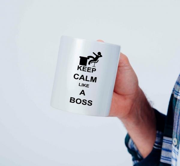 Cana personalizata - Keep calm like a boss [0]