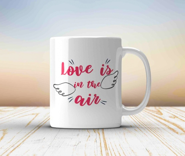 Cana personalizata - Love is in the air 0
