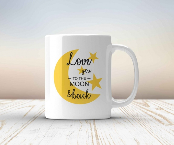 Cana personalizata - Love you to the moon and back 0
