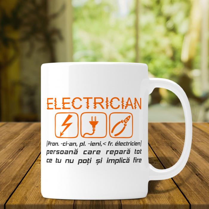 Cana Personalizata - Definitia Unui Electrician [0]