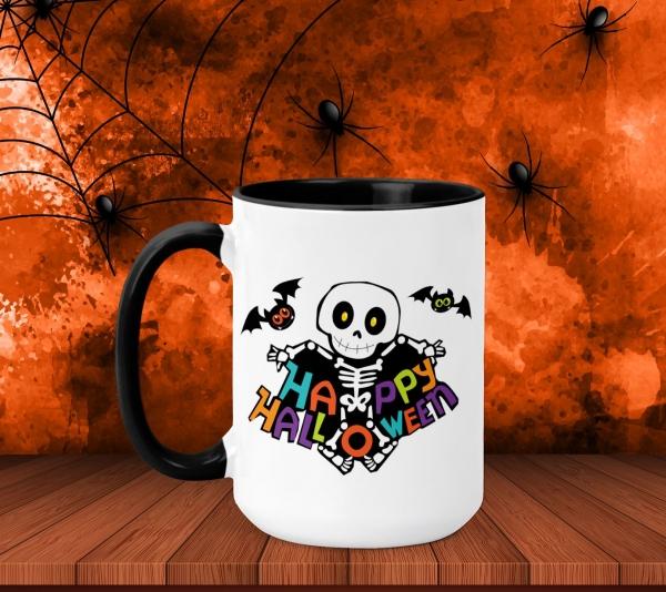 Cana Personalizata Halloween - Schelet 0
