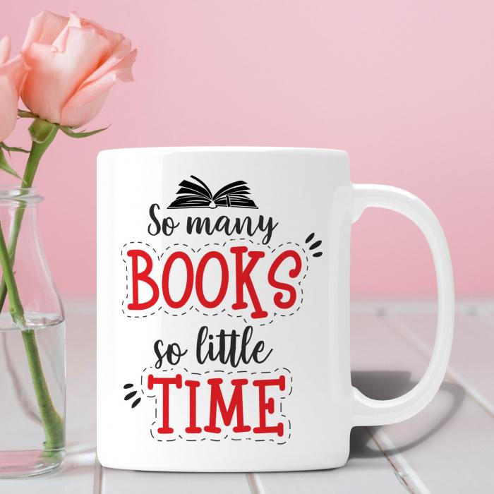 Cana Personalizata - So Many Books So Little Time [0]